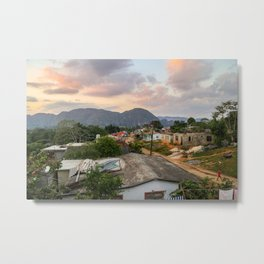Village in Vinales Metal Print