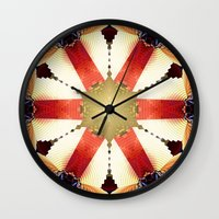 shield Wall Clocks featuring Shield by Deborah Benoit