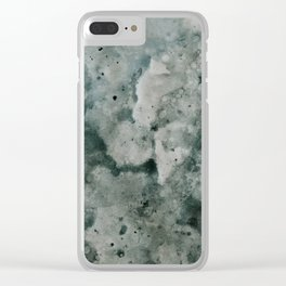Stormy Daze Clear iPhone Case