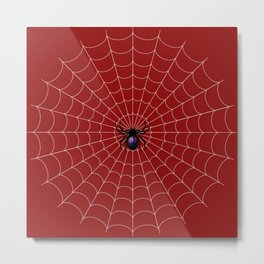 Spider man Bite Metal Print