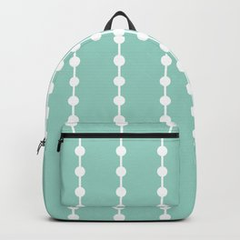 Geometric Droplets Pattern Linked - Pastel Green and White Backpack