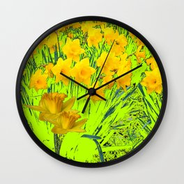 YELLOW SPRING DAFFODILS GARDEN Wall Clock