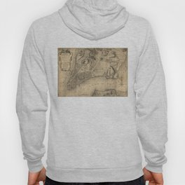 Vintage Map of New York City (1776) Hoody