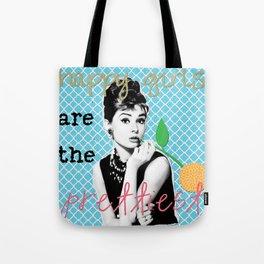 Audrey Hepburn Happy Girls Tote Bag