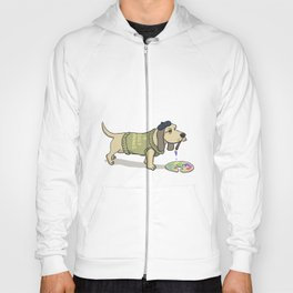 A Painting Dog Hoody