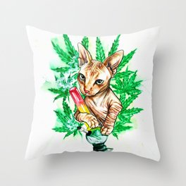 Benny Bluntz Throw Pillow
