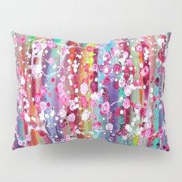 Roses & Bubbles on Rainbows Pillow Sham