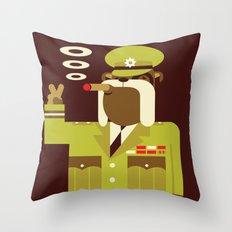 Major Winston Bulldog Throw Pillow