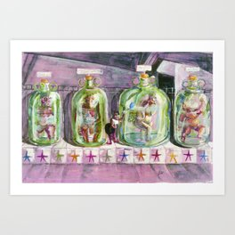 Freak Show Art Print