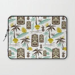 Island Tiki - White Laptop Sleeve