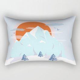 Winter breeze in Alpes Rectangular Pillow