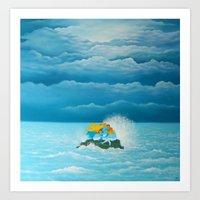 """The Tempest"" (Wild Swans) Art Print"