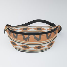 Foxes and ethnic shapes Fanny Pack