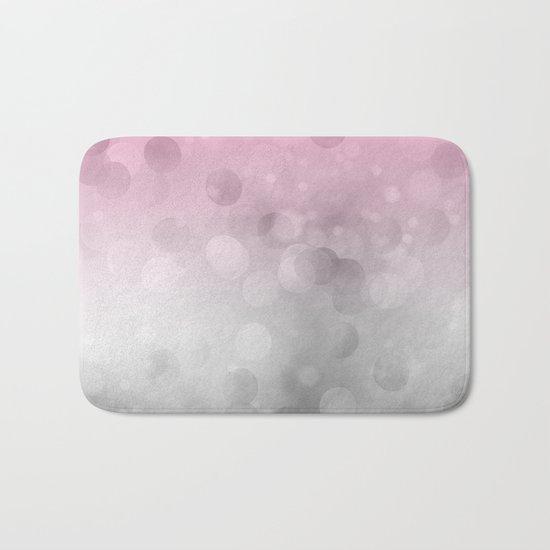 Pink light abstract bokeh design Bath Mat