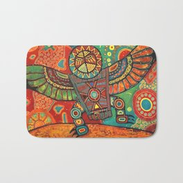 Shaman Dance: Day and Night Bath Mat