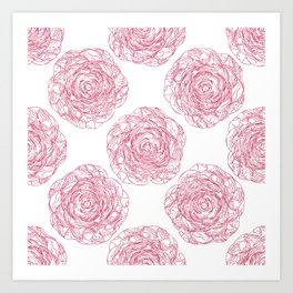 Pattern with roses 2 Art Print