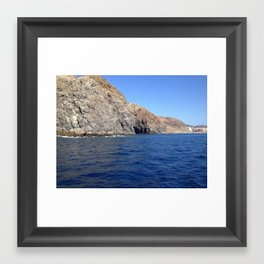 Enchanted Cave by the Sea Framed Art Print