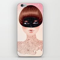 leah flores iPhone & iPod Skins featuring Flores by Pete K.