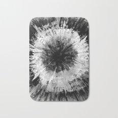 Black and White Tie Dye // Painted // Multi Media Bath Mat