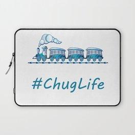 #ChugLife Blue Train Laptop Sleeve