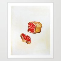 bread Art Prints featuring Bread by colorlabo