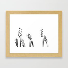 The Guitars (Black and White) Framed Art Print