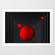 red white black -14- Art Print