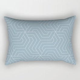Pewter Blue - heavenly - Modern Vector Seamless Pattern Rectangular Pillow