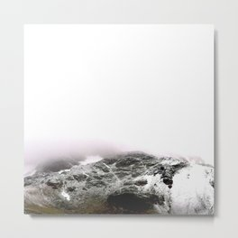 Winter comes to mountains Metal Print