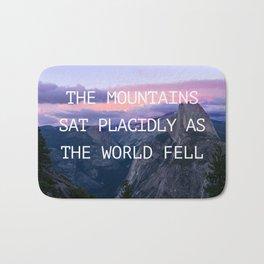 The mountains sat placidly Bath Mat
