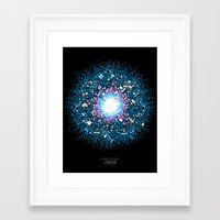 inside gaming Framed Art Prints featuring Gaming Supernova - AXOR Gaming Universe by Studio Axel Pfaender