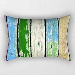Texture of colored grunge wood 1 Rectangular Pillow