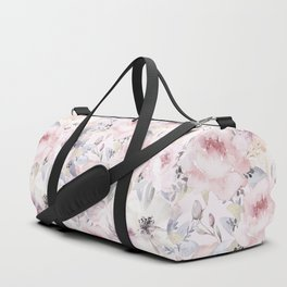 Pastel Summer Flower Watercolor Pattern Duffle Bag