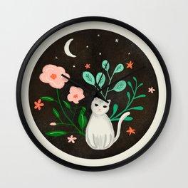 Luna the Cat Wall Clock