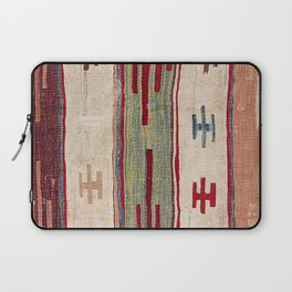 Arcade Star Kilim // 17th Century Colorful Muted Lime Green Southwest Cowboy Ornate Accent Pattern Laptop Sleeve