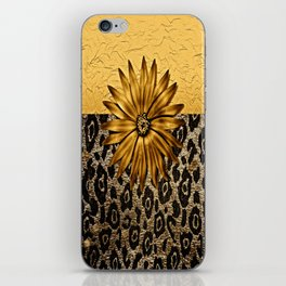Animal Print Brown and Gold Animal Medallion iPhone Skin