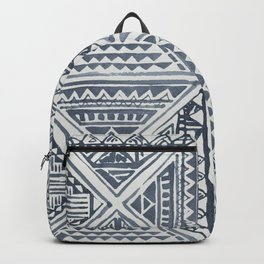 Simply Tribal Tile in Indigo Blue on Lunar Gray Backpack
