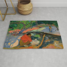"Paul Gauguin ""Te Poipoi (Le matin - The morning)"" Rug"