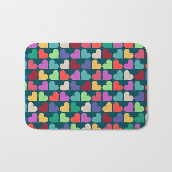 Colorful Love Pattern XII Bath Mat