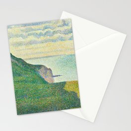 Georges Seurat, Seascape at Port-en-Bessin, Normandy, 1888 Stationery Cards