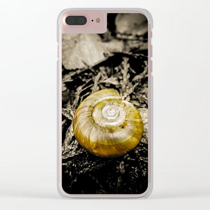 Golden Spiral Clear iPhone Case