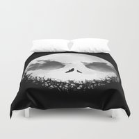 nightmare before christmas Duvet Covers featuring The Nightmare Before Christmas - Jack Skellington by Bastien13