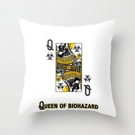 Queen of Biohazard Throw Pillow