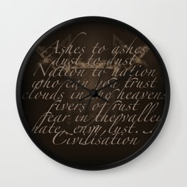 Civilisation: Ashes To Ashes Wall Clock
