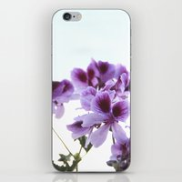 leah flores iPhone & iPod Skins featuring Flores by angelazf