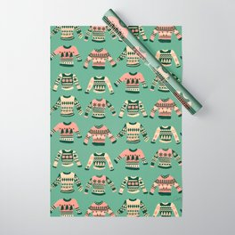 Christmas Sweaters – Vintage Blush Mint Palette Wrapping Paper