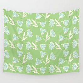 Flowers and wind Wall Tapestry