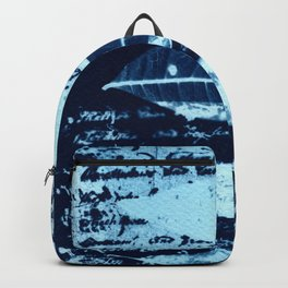 Fragments of the Past (28), art print, collage, blue print, cyanotype print, wall art, wall decor Backpack