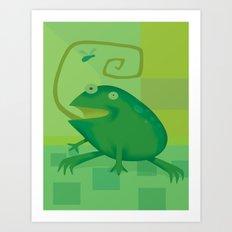 Shallow Frog Art Print