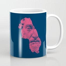 MARCUS AURELIUS ANTONINUS AUGUSTUS / prussian blue / vivid red Coffee Mug